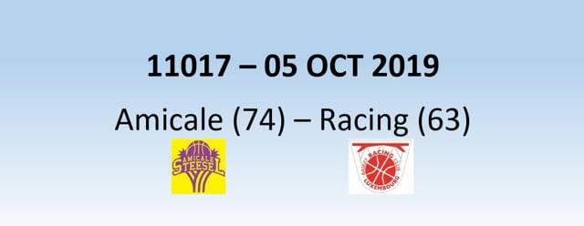 N1H 11017 Amicale Steinsel (74) - Racing Luxembourg (63) 05/10/2019