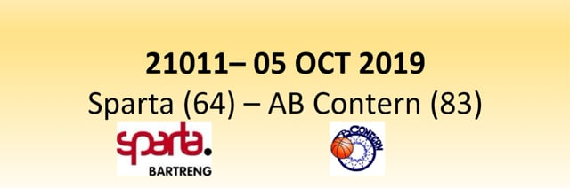N1D 21011 Sparta Bertrange (64) - AB Contern (83) 05/10/2019