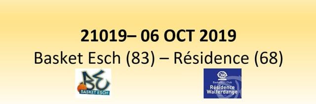 N1D 21019 Basket Esch (83) - Résidence Walferdange (68) 06/10/2019