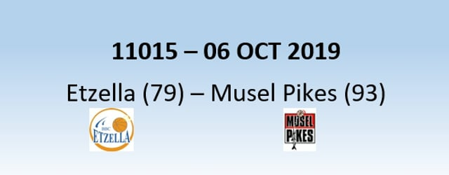 N1H 11015 Etzella Ettelbruck (79) - Musel Pikes (93) 06/10/2019