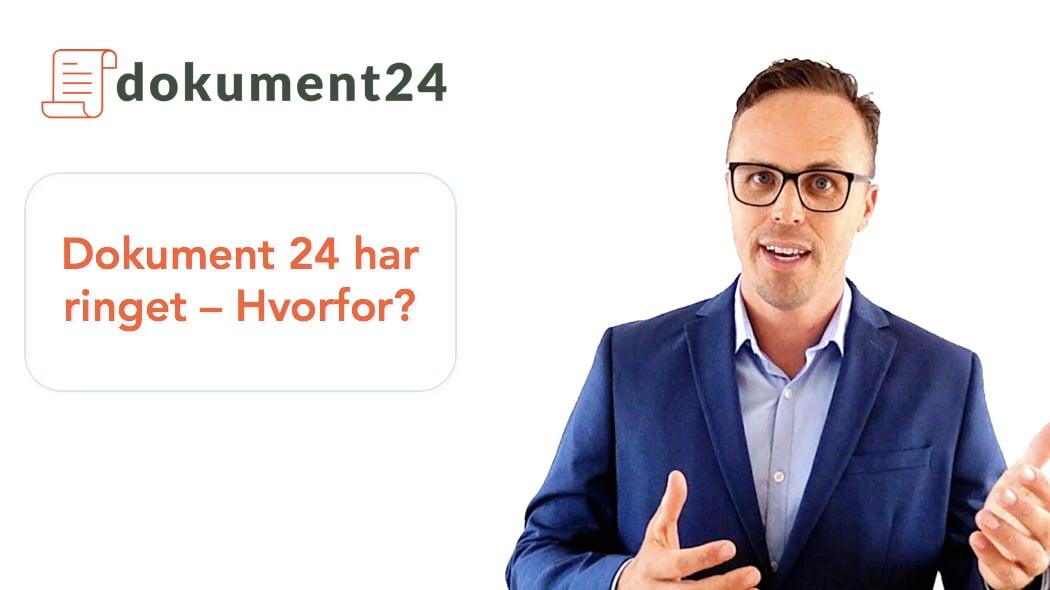 Dokument 24 har ringet - hvorfor?
