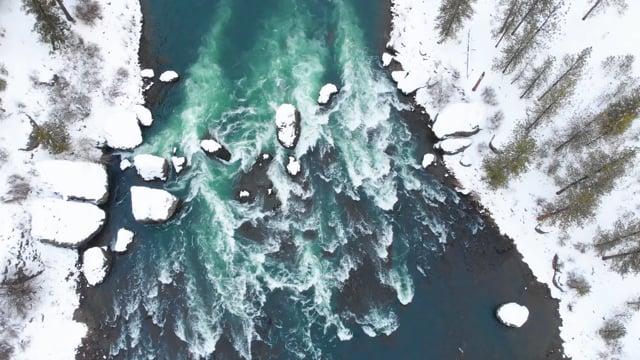 Eastern Washington from Air. Winter