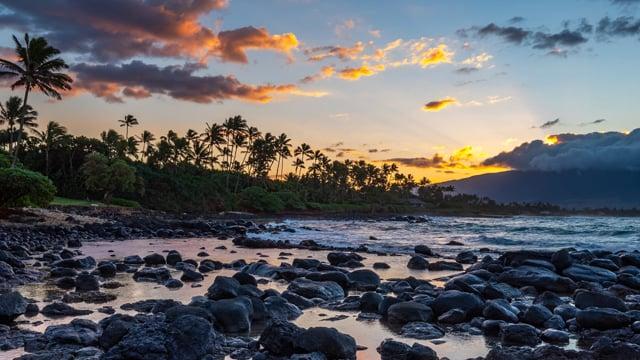 Sunset at Baby Beach, Maui, Hawaii