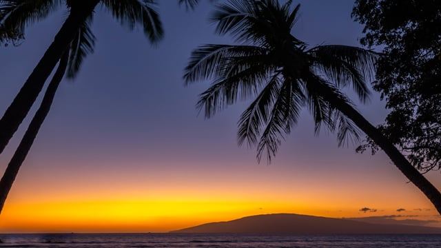 Sunset - Launiupoko Beach Park, Maui, Hawaii