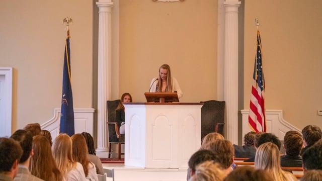 Millbrook Chapel Talk - Charlotte Golden '20