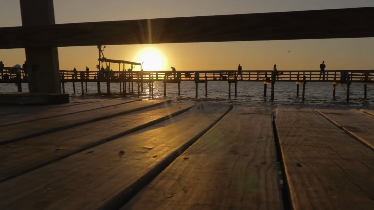 Cedar Point Fishing Pier:  Sunset and Twilight