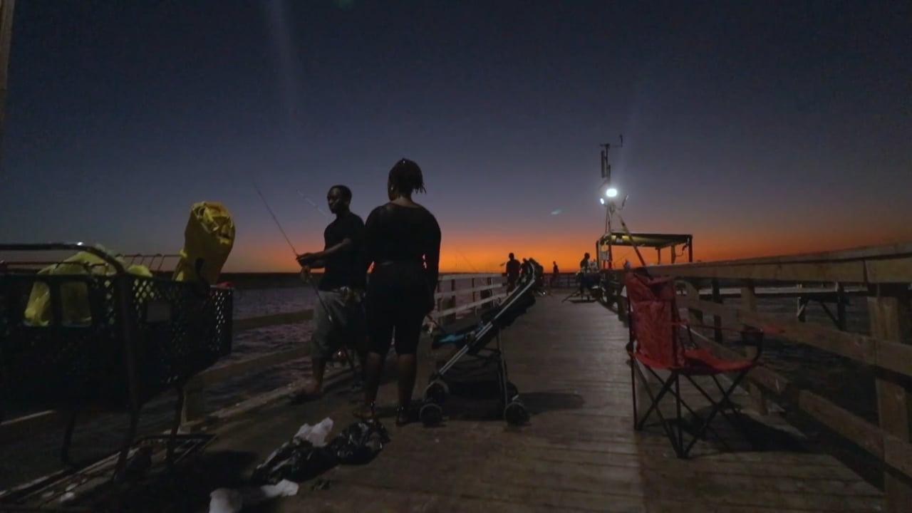 Twilight:  Cedar Point Fishing Pier