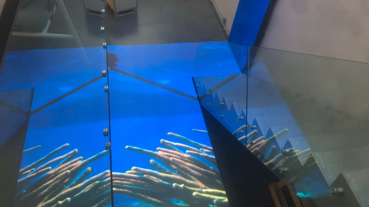 LED Floor at London advertising agency by Dynamo LED Displays