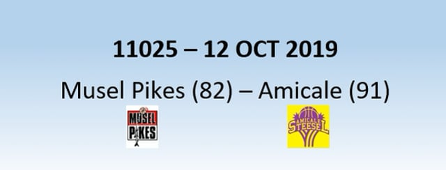 N1H 11025 Musel Pikes (82) - Amicale Steinsel (91) 12/10/2019