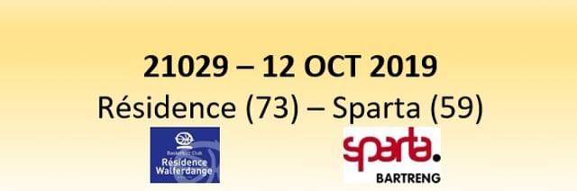 N1D 21029 Résidence Walfer (73) - Sparta Bertrange (59) 12/10/2019