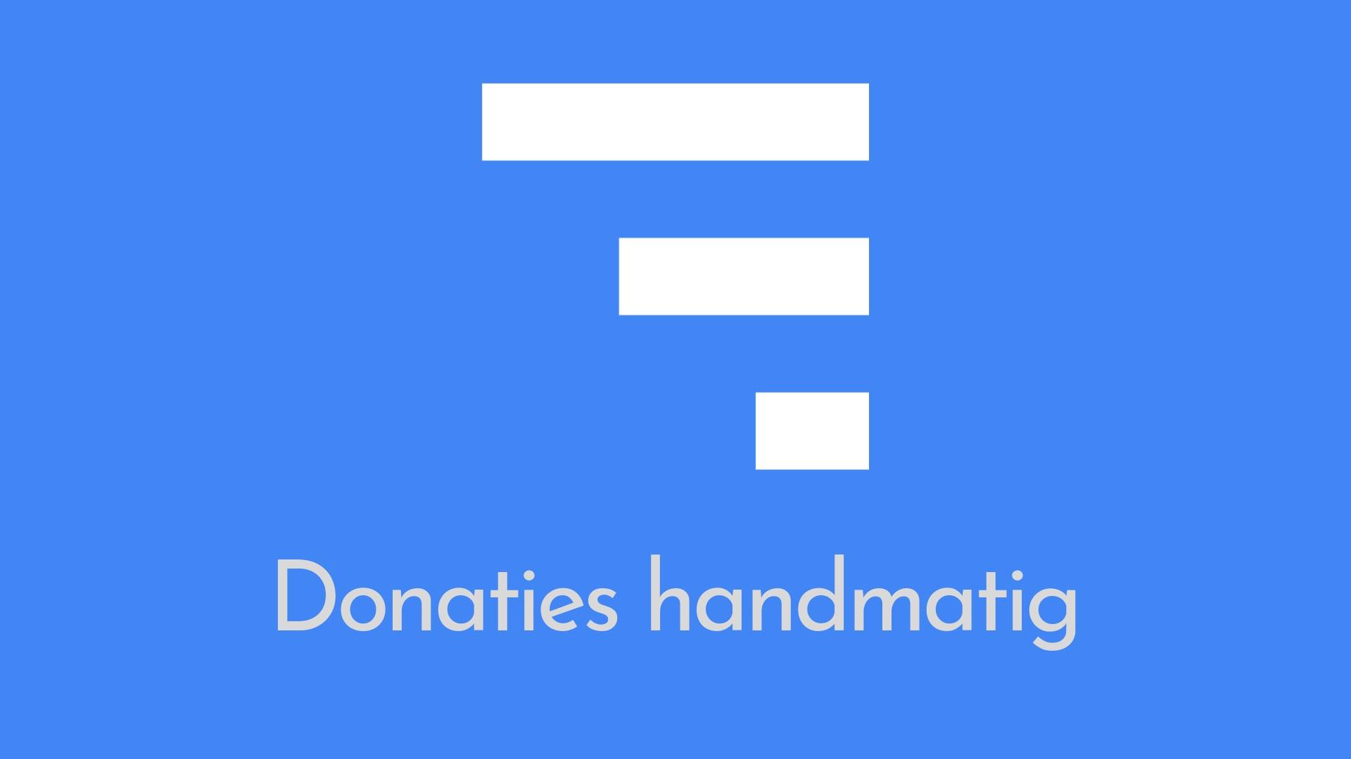 Donaties handmatig