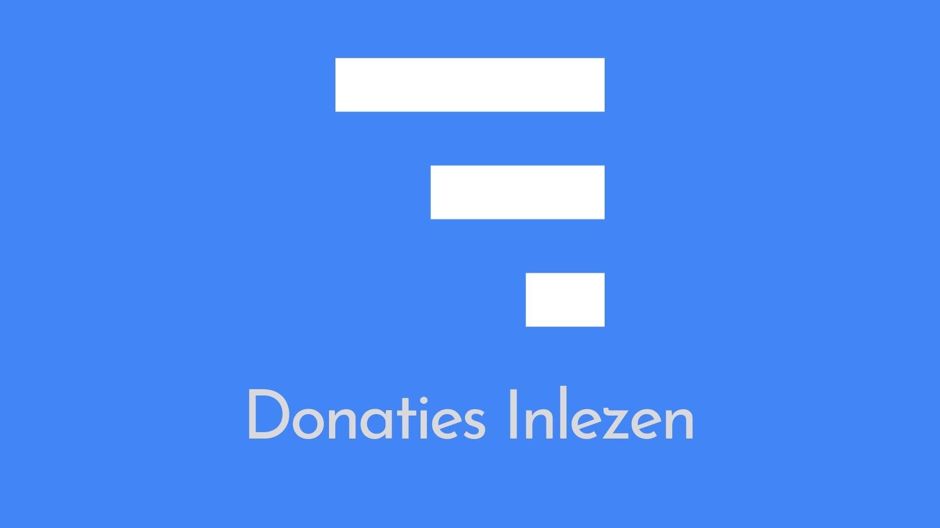 Donaties inlezen