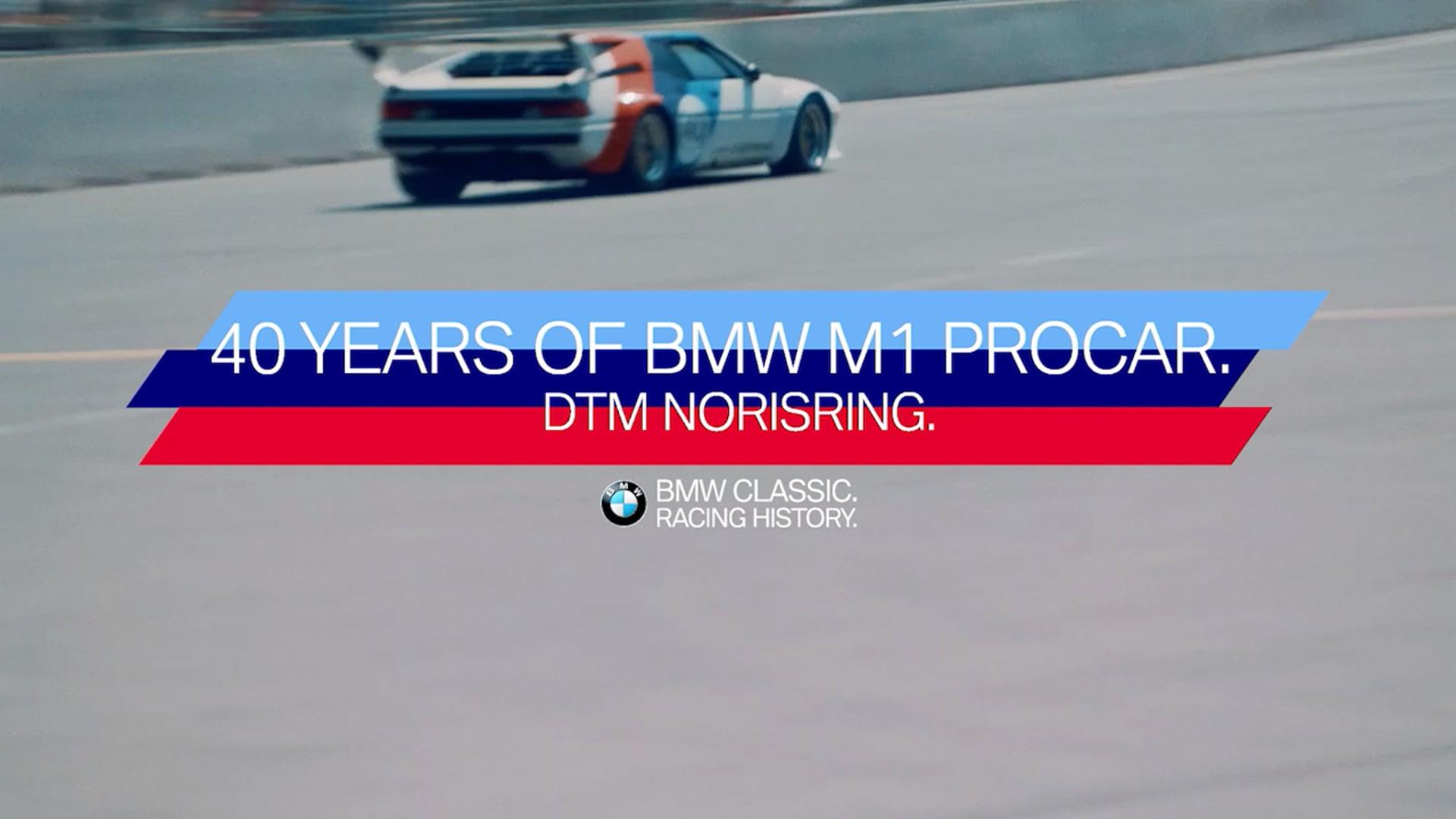 Our passion. Our Adventures. 40 Jahre BMW M1 ProCar.