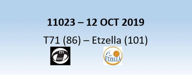 N1H 11023 T71 Dudelange (86) - Etzella Ettelbruck (101) 12/10/2019