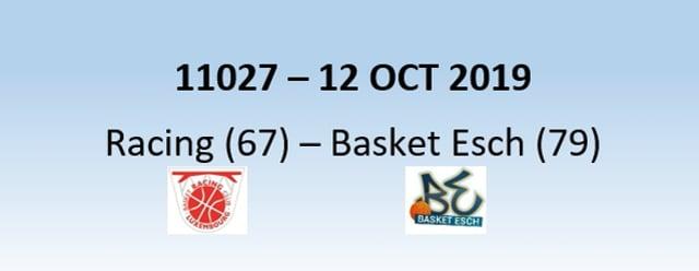 N1H 11027 Racing Luxembourg (67) - Basket Esch (79) 12/10/2019