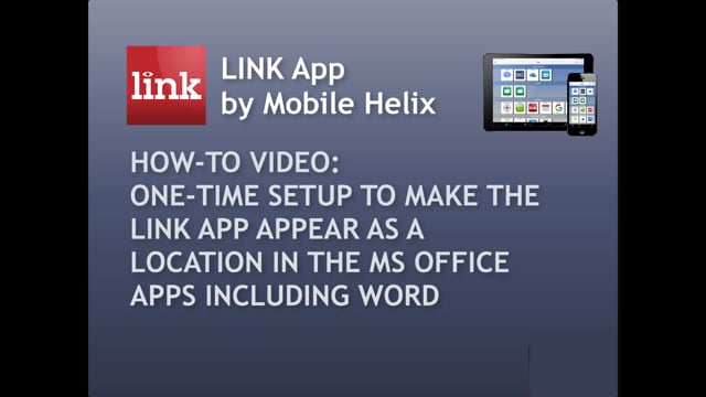 How To  Setup LINK as Location in Office (Word) Apps 1:19