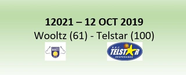 N2H 12021 Les Sangliers Wooltz (61) - Telstar Hesper (100) 12/10/2019