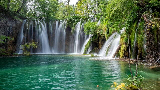 Waterfalls of Croatian National parks. Part 4 HDR