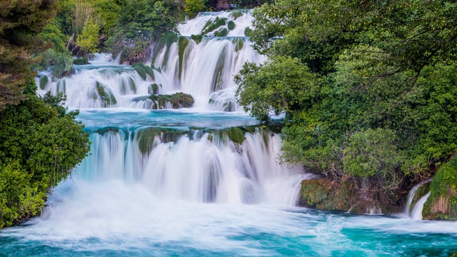Waterfalls of Croatian National parks. Part 2 in HDR