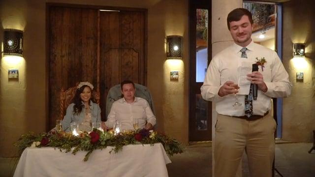 Vitoria+Matthew Wedding Reception (4K) - Hacienda Dona Andrea, Santa Fe NM - Oct 2019