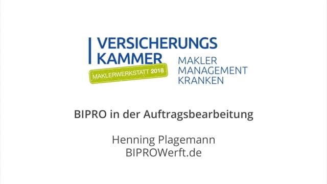 Henning Plagemann: BiPRO in der Auftragsbearbeitung