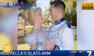 Special Cinderella Has Glass Arm & Message for Little Girls
