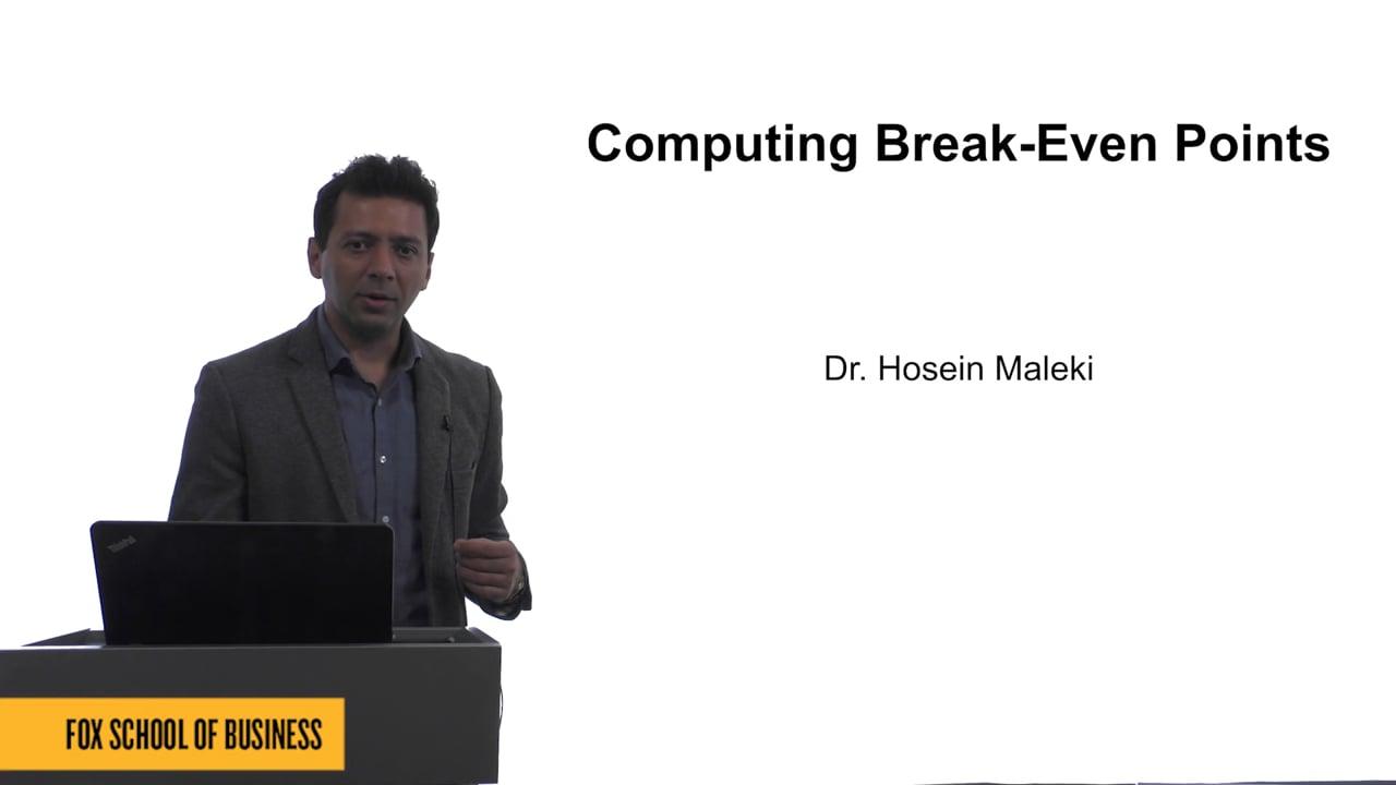 61618Computing Break-Even Points