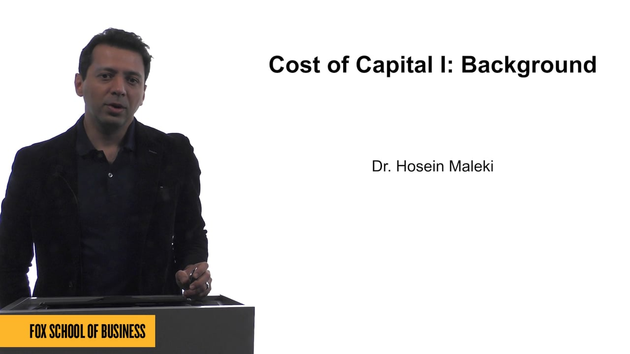 61624Cost of Capital I: Background
