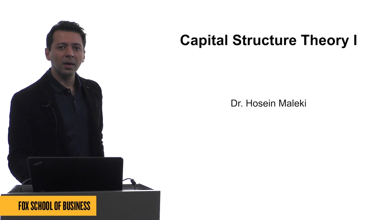 61625Capital Structure Theory I
