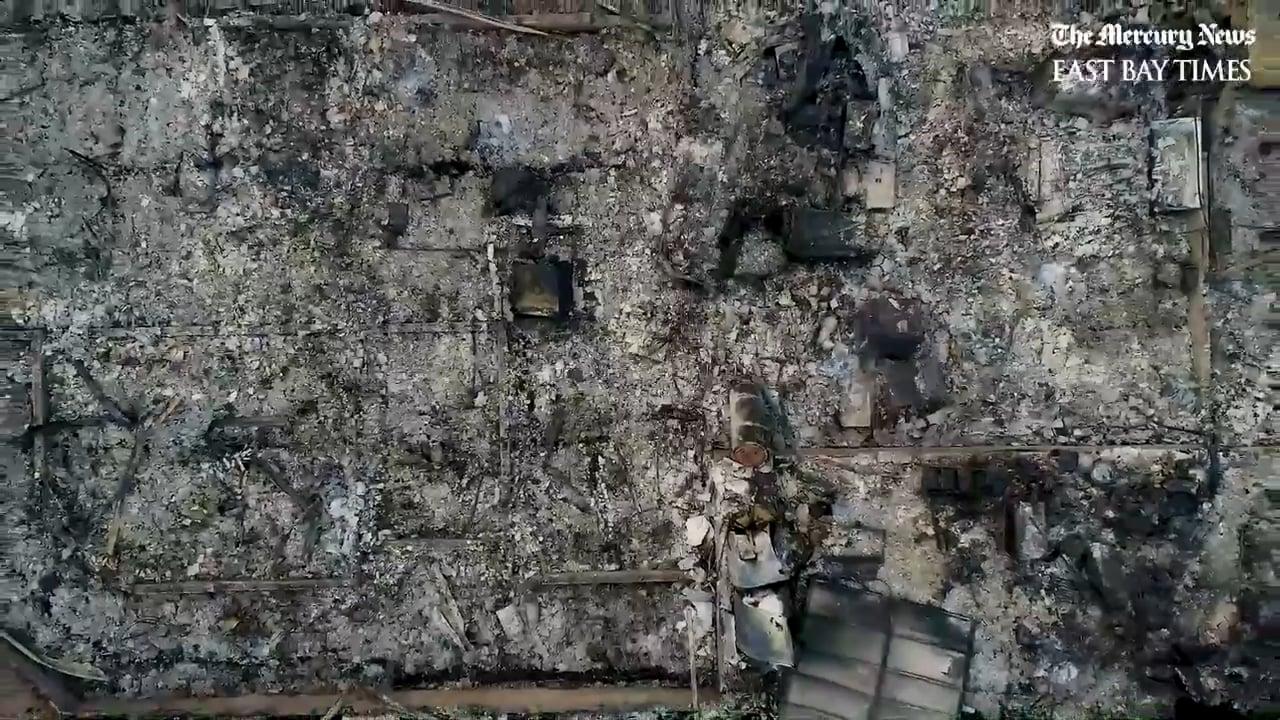 Campfire Aerial tour of Paradise California destruction