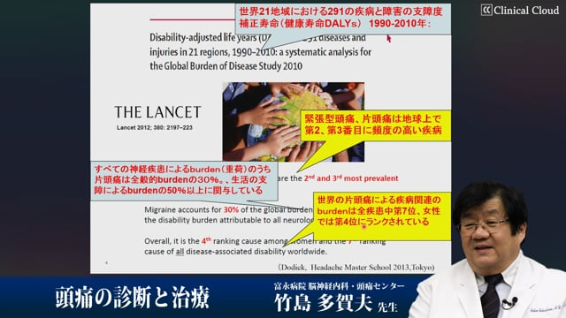 竹島 多賀夫先生:知っておきたい!日常診療での頭痛診断と治療の手引き Part1