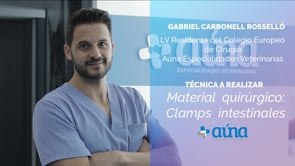 Material quirúrgico: Clamps intestinales