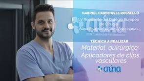 Material quirúrgico: Aplicadores de clips vasculares