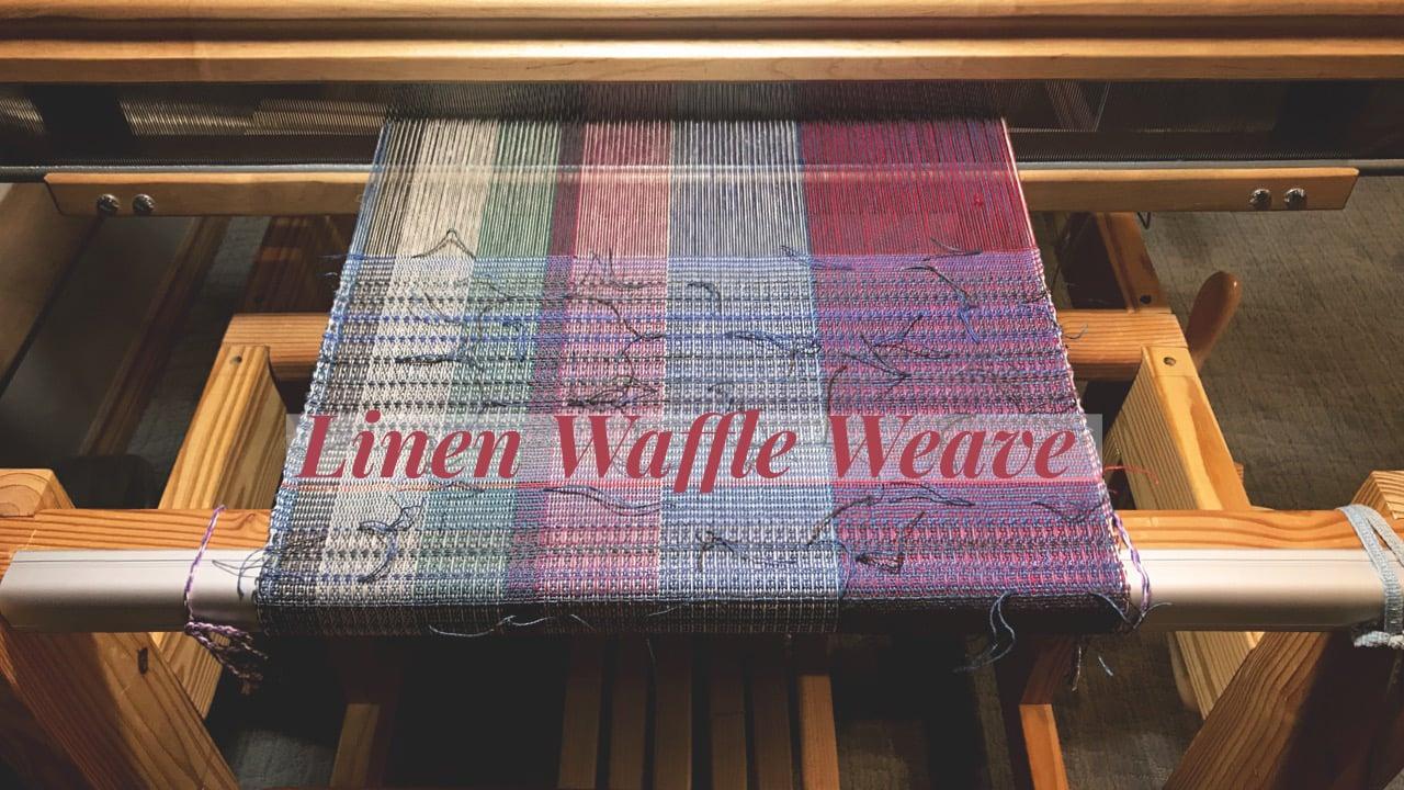 Leftover Linen Waffle Weave Washcloths