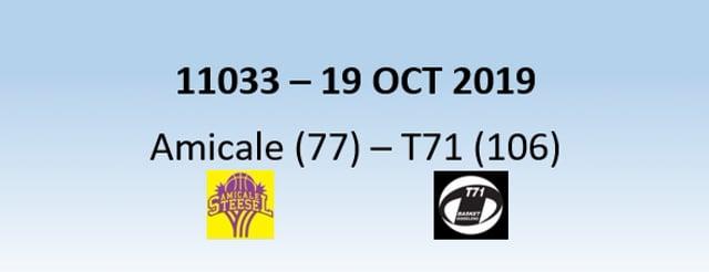 N1H 11033 Amicale Steinsel (77) - T71 Dudelange (106) 19/10/2019