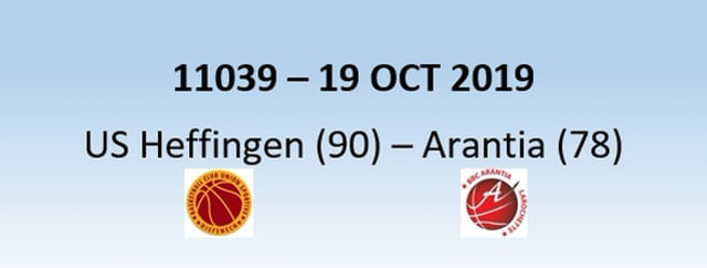 N1H 11039 US Heffingen (90) - Arantia Larochette (78) 19/10/2019