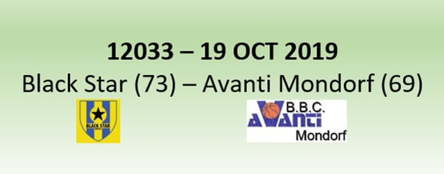 N2H 12033 Black Star Mersch (73) - Avanti Mondorf (69) 19/10/2019BSM vs MON FG