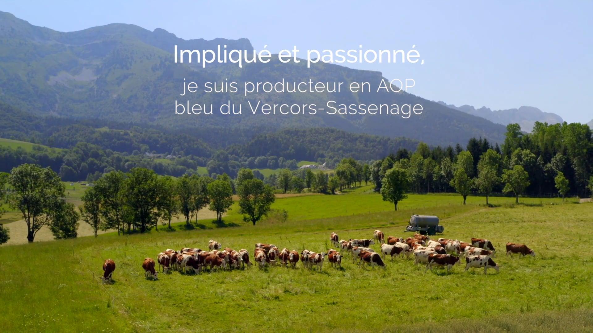 Mon métier d'agriculteur et producteur en AOP Bleu Vercors-Sassenage