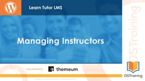 Managing Instructors