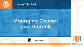 Managing Courses and Students
