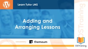 Adding and Arranging Lessons