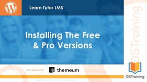 Installing the Free and Pro Versions