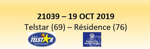 N1D 21039 Telstar Hesperange (69) - Résidence Walferdange (76) 19/10/2019