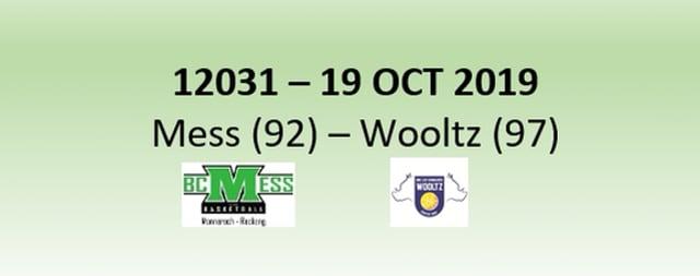 N2H 12031 BC Mess (92) - Les Sangliers Wooltz (97) 19/10/2019