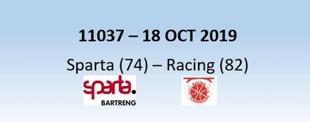 N1H 11037 Sparta Bertrange (74) - Racing Luxembourg (82) 18/10/2019