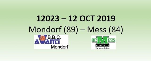 N2H 12023 Avanti Mondorf (89) - BC Mess (84) 12/10/2019
