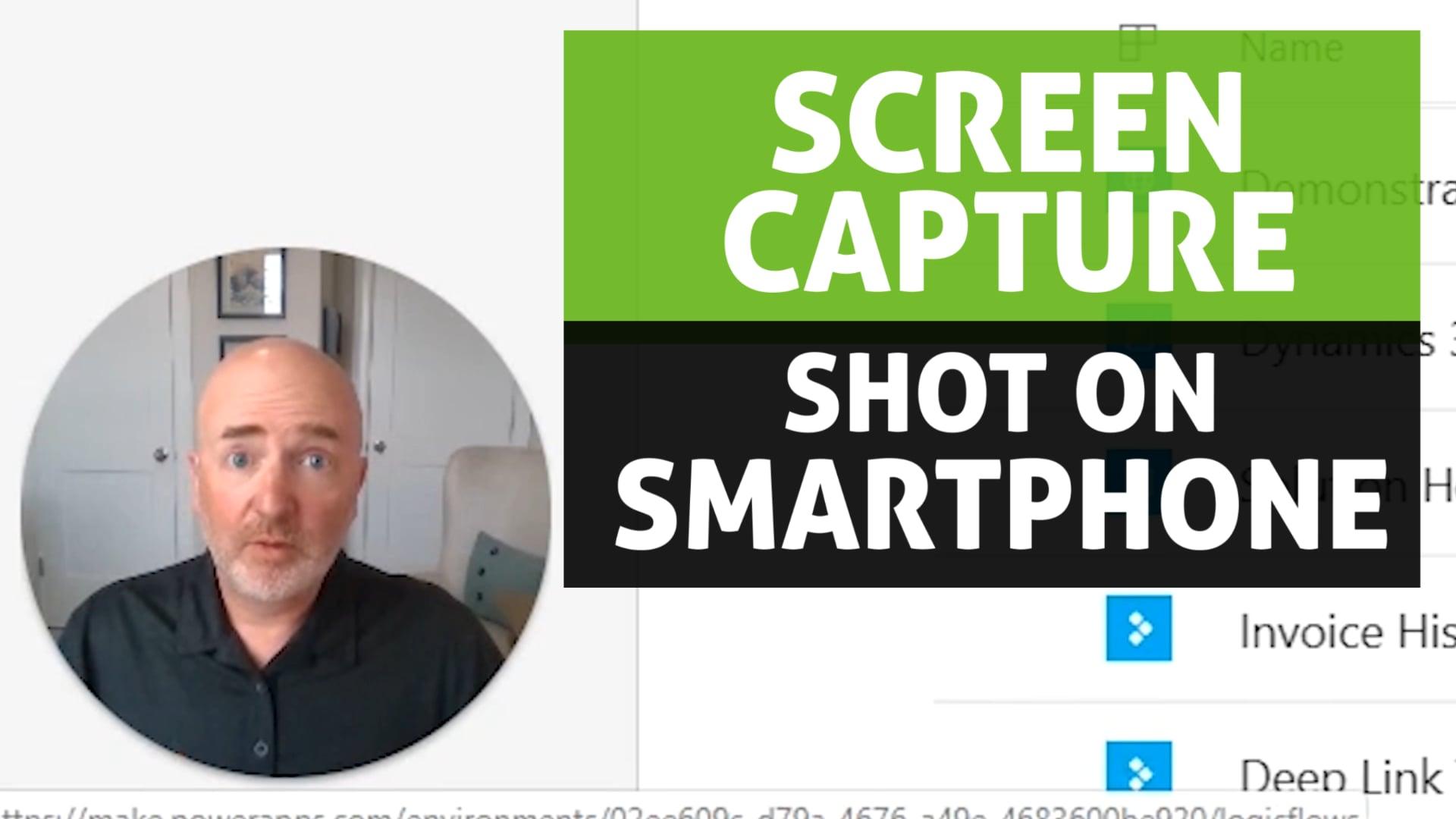 Screen capture with webcam