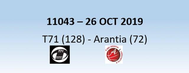 N1H 11043 T71 Dudelange (128) - Arantia Larochette  (72) 26/10/2019