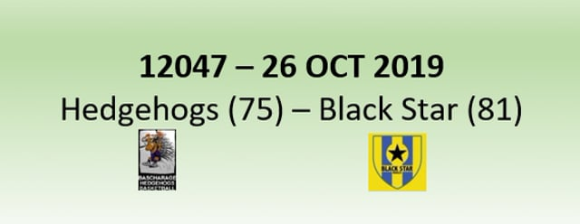 N2H 12047 Hedgehogs Bascharage (75) - Black Star Mersch (81) 26/10/2019