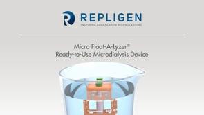 Micro Float-A-Lyzer Dialysis Device